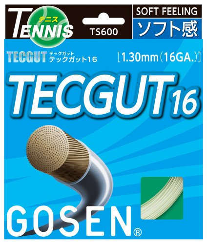 ゴーセン(GOSEN) テックガット16 (テニス用) ホワイト TS600W