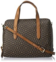 Fossil Sydney Signature Satchel,Multi Brown,One Size