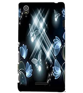 SONY XPERIA T3 BUTTERFLIES Back Cover by PRINTSWAG