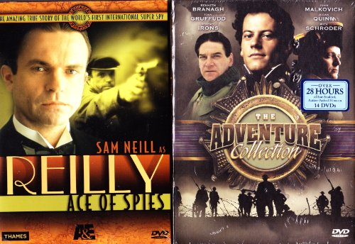 Reilly Ace Of Spies : Complete Uncut Edition Mini-series : The True Story That Inspired James Bond 007 , Shackleton - The Greatest Survival Story of All Time : Complete Uncut Version Mini Series : With Bonus Programs Shackleton Biography , Antarctica a Fr