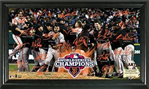 San Francisco Giants Framed 2012 World Series Champions Celebration Signature Field