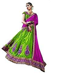 DesiButik's Wedding Wear Lavishing Liril Green Net Lehenga