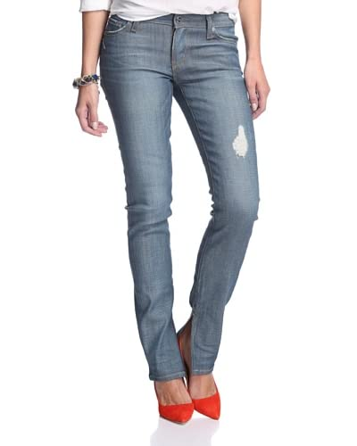 A.N.D. Denim Women's Jackson Slouchy Ciggie with Slit Jean
