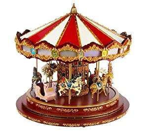 "Gold Label Mr. Christmas 16"" Royal Marquee Carousel with Lights"