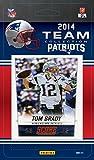 New England Patriots 2014 Score NFL Football Factory Sealed 11 Card Team Set with Tom Brady, Julian Edelman, Revis, Jimmy Garoppolo Rookie Card Plus