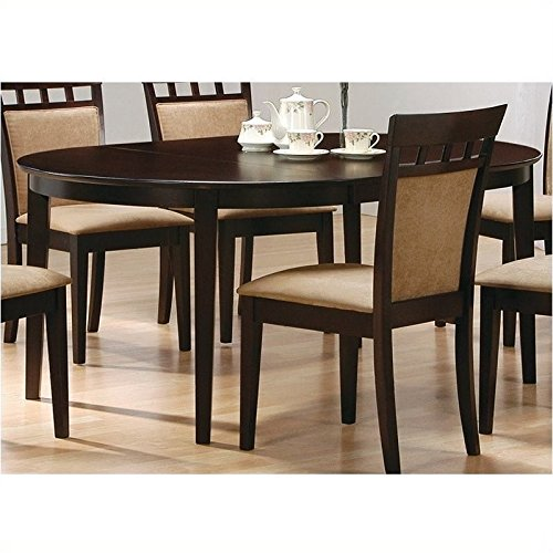 Coaster Contemporary Oval Dining Table, Cappuccino Finish (Dining Table Chairs Set Of 6 compare prices)