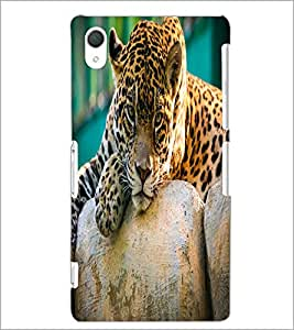 PrintDhaba Leopard D-2055 Back Case Cover for SONY XPERIA Z2 (Multi-Coloured)