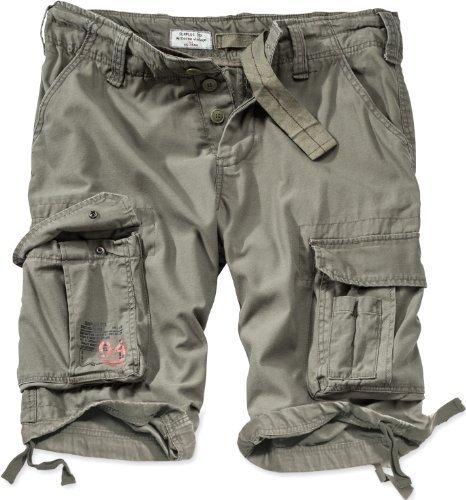 Surplus Uomo Airborne Vintage Pantaloncini Lavati Oliva taglia L