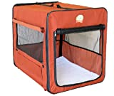 Go Pet Club Dog Soft Crate, 43-Inch by 28-Inch by 32-Inch, Brown