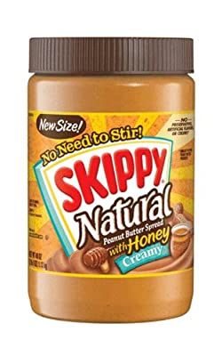 Skippy Peanut Butter, Creamy and Natural with Honey, 40Ounce from Skippy