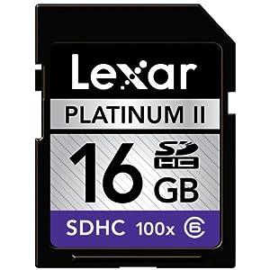 Lexar Platinum II 16 GB 100x SD/SDHC Flash Memory Card (LSD16GBSBNA100-BULK)