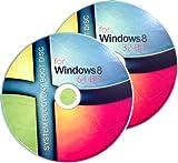 2 DISC COMBO - WINDOWS 8 SYSTEM 32Bit/64Bit Recovery/Repair Boot Disc Disk CD Set [2x CD-ROM]