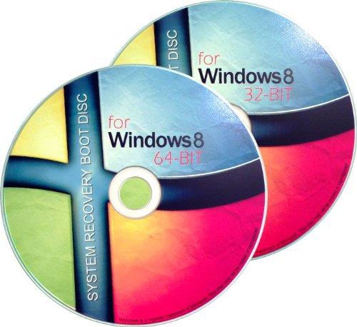 2 DISC COMBO - WINDOWS 8 Scheme 32Bit/64Bit Recovery/Repair Boot Disc Disk CD Set [2x CD-ROM]