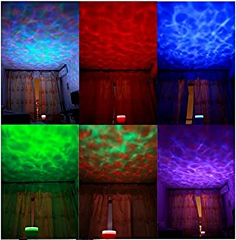ESUMIC Ocean Waves Projector Lamp Projection 8Modes ,Ocean Lamp Music Projection by Amerlight TM