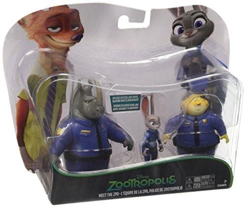 Rocco Giocattoli L70052 - Zootropolis, Pack Polizia con 3 Personaggi