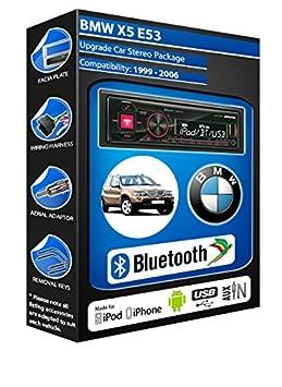 BMW X5 E53 autoradio Alpine UTE 72BT mains-libres Bluetooth pour autoradio stéréo