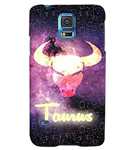 Fuson 3D Printed Sunsign Taurus Designer back case cover for Samsung Galaxy S5 Neo - D4464