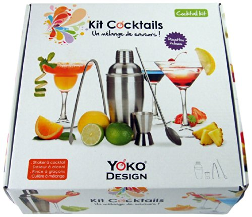 Yoko Design 1245 Kit Cocktails Acier Inox 26,3 x 25,5 x 9 cm
