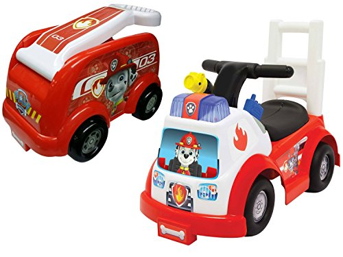 NEW! Paw Patrol Marshall Ride-On and Paw Patrol Roll N Go Fire Engine Wagon, Red (Red Ryder Wagon Canopy compare prices)