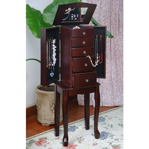 Review Of Traditional Style Espresso Jewelry Armoire Chest