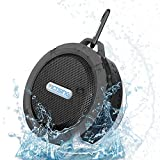 VicTsing® Wireless Bluetooth 3.0 Waterproof Outdoor / Shower Speaker, with 5W Speaker/Suction Cup/Mic/Hands-Free Speakerphone - Gray