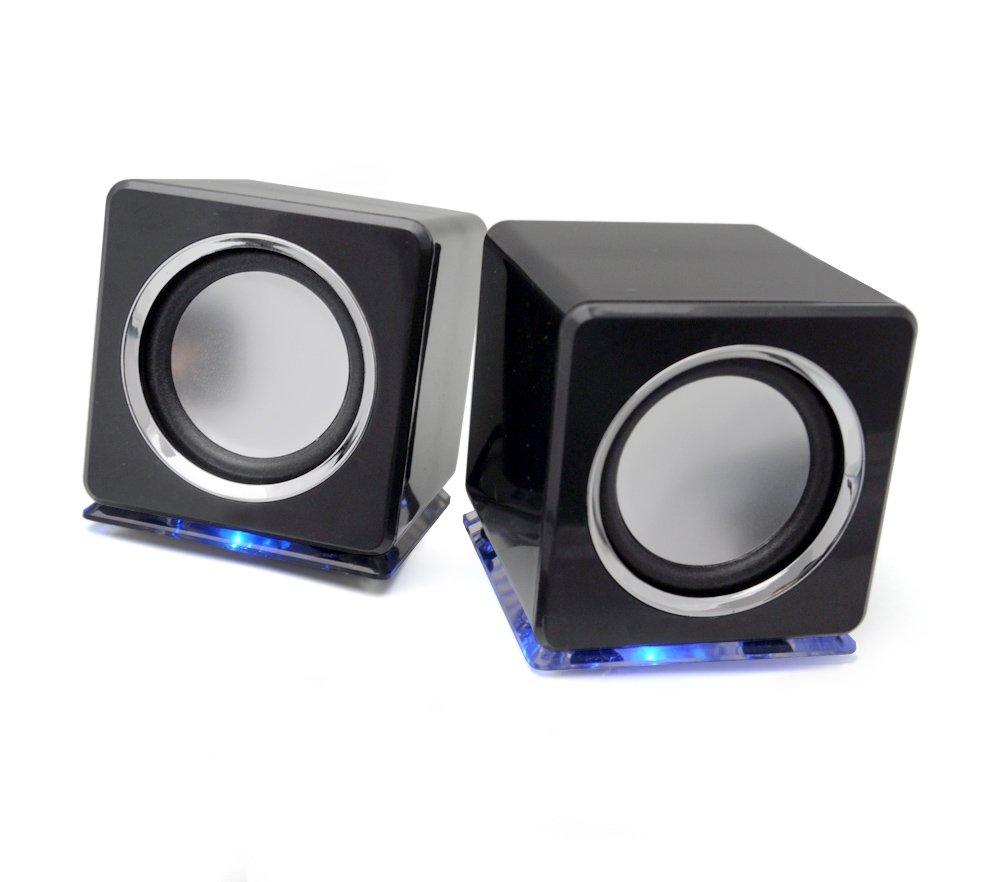 tragbare boxen lautsprecher ideal f r ipod mp3 player pc notebook in schwarz ebay. Black Bedroom Furniture Sets. Home Design Ideas