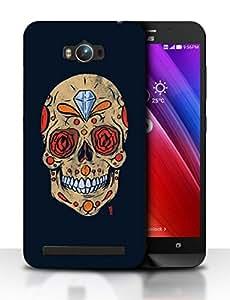 Snoogg Diamond Skull Designer Protective Back Case Cover For ASUS ZENFONE MAX
