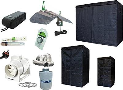 LUMii Light Kit Sunblaster LIGHTHOUSE Grow Tent & Fan kit 400w & 600w Copacta Ballast Hydroponics Complete Kit