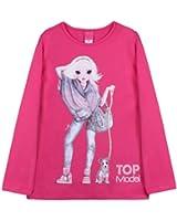 Top Model - Camiseta con cuello redondo para niña
