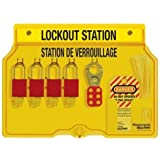 Master Lock French/English 4-Padlock Capacity Lockout Station with Cover