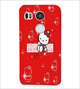 PrintDhaba Kitty D-5554 Back Case Cover for LG NEXUS 5X (Multi-Coloured)