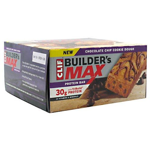Clif Bar Builder'S Max Bar: Chocolate Chip Cook Dough; Box Of 9