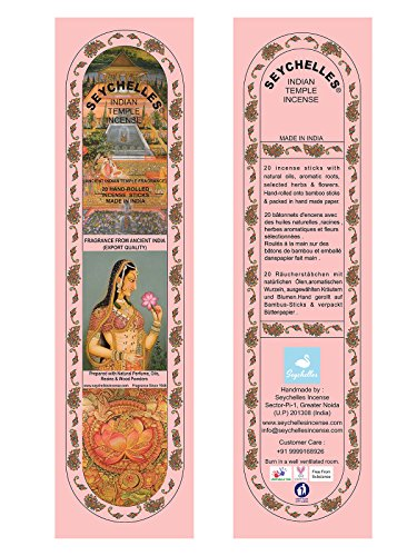 Hand-Rolled Incense Sticks- Pure Sandalwood Ancient Indian Temple Agarbatti Pack Of 10 (200 Sticks)