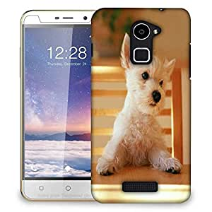Snoogg Puppy Sitting In Chair Designer Protective Phone Back Case Cover For Coolpad Note 3 Lite