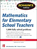 img - for Schaum's Outline of Mathematics for Elementary School Teachers (Schaum's Outline Series) book / textbook / text book
