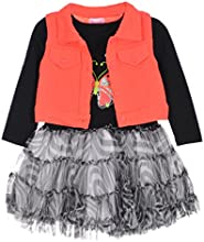 Nannette Little Girls39 Toddler quotButterfly Sparklequot Dress with Vest