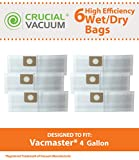 6pk vacmaster 4 gallon bags compare to part  vfdb designed  engineered by crucial vacuum