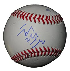Hong-Chih Kuo Autographed ROLB Baseball, Seattle Mariners, Los Angeles Dodgers, Proof Photo