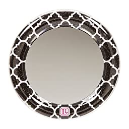 LockerLookz Locker Mirror - Black and White Quatrefoil - 1 Piece