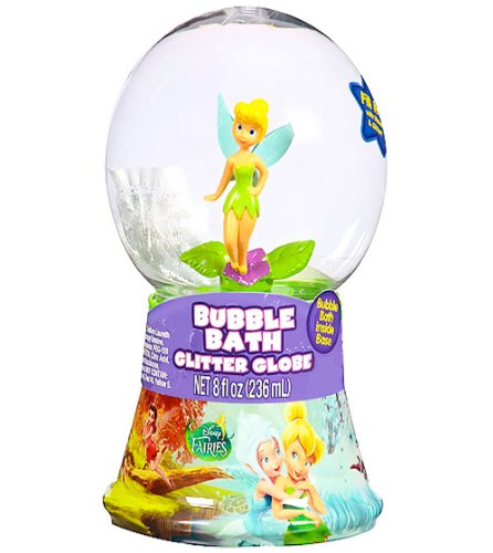 Disney Princess Fairies Bubble Bath Glitter Globe (8 inches) Featuring Disney Fairies and Tinkerbell - 1