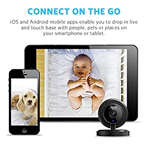 ANKER AnkerCam Wi-Fi Wireless Camera Video Monitoring IP/Network Camera Surveillance/Security Camera Baby Monitor with 720p HD Quality, 110° View, Nig
