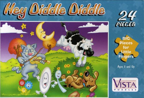 "24 Piece Hey Diddle Diddle Puzzle, 8.25"" x 11"" - 1"