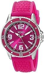 XOXO Women's XO8070 Fuchsia Analog Silicone Strap Watch