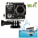 Blusmart? Wifi 1080P Action Camera Sports Camera Waterproof HD Action DVR Wide Angle DV Diving Action Camera(WiFi DV-Black)