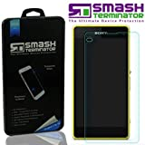Smash Terminator® Premium Quality Tempered-Glass Screen Protector for New Smart Phone Android (0.25mm) Ultra Thin Lightweight Rounded Edge Hardness up to 9H (harder than a knife) - Includes Microfiber Cleaning Cloth, Dust Remover. UK Designed Product (So