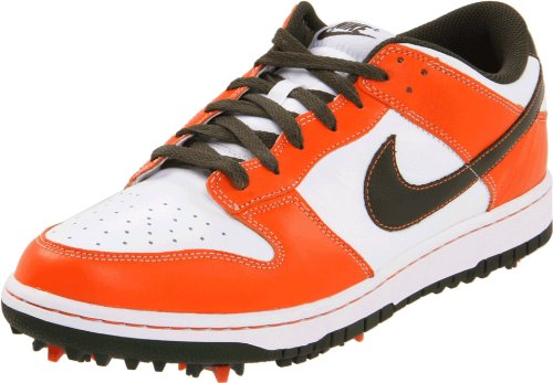 Nike Dunk NG Mens Golf Shoes Retro Style (White/Cargo Orange, 8 UK)