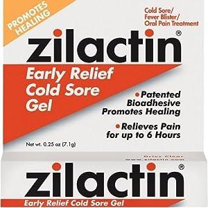 Zilactin Cold Sore Gel-0.25,oz.