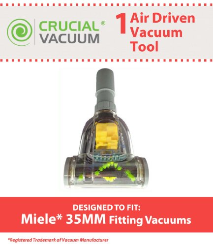 1 Miele 35MM Air Driven Pet Upholstery Turbo Brush Tool Attachment 35mm Designed To Fit Miele & 35mm Fitting Vacuums, Designed & Engineered By Crucial Vacuum (Crucial Vacuum Miele compare prices)