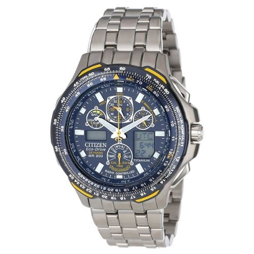 69c798cf74f Citizen Men s JY0050 55L Blue Angels Skyhawk A T Titanium Eco Drive Watch