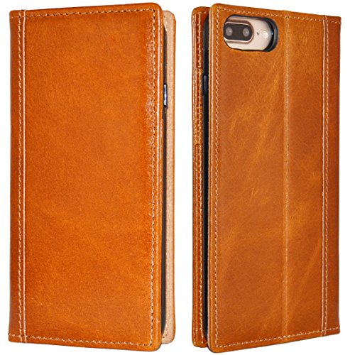 iPhone 7 Plus Case -- iPulse Genuine Italian Full Grain Leather Handmade Flip Wallet Case For iPhone 7 Plus (5.5 inches) - [Vintage Book Style ] [Built-in Stand] [Card Slots Holder] - Cognac (Italian Leather Cell Phone Case compare prices)
